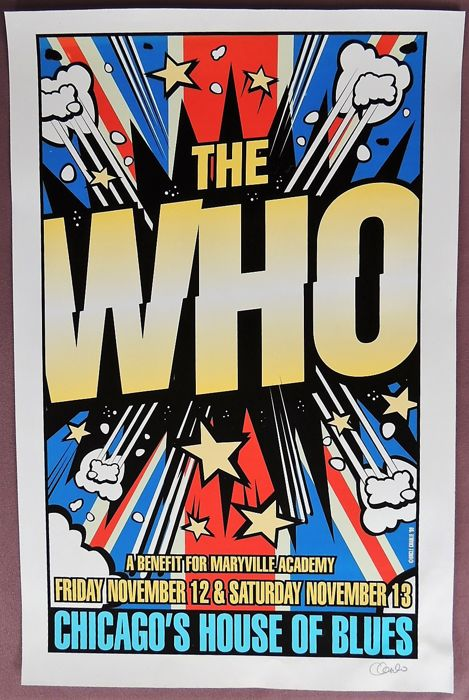 "Original ""The Who"" 1999 Poster"