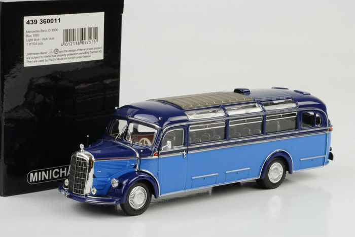 MiniChamps - 1:43 - Mercedes-Benz O 3500 Bus 1950 - Limited Edition of 504 pcs.