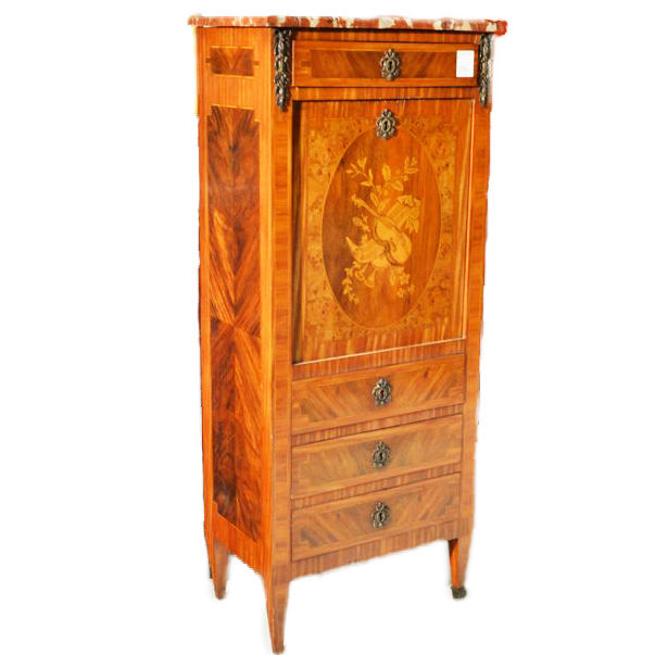 Inlaid secretaire in Napoleon III style - rosewood - France - ca. 1890