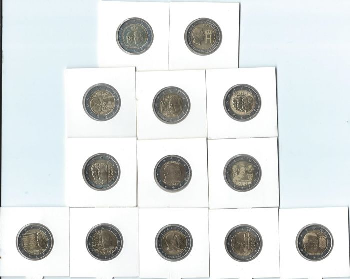Greece and Luxembourg - 2 Euro 2004/2014 Commemorative coins (20 pieces)