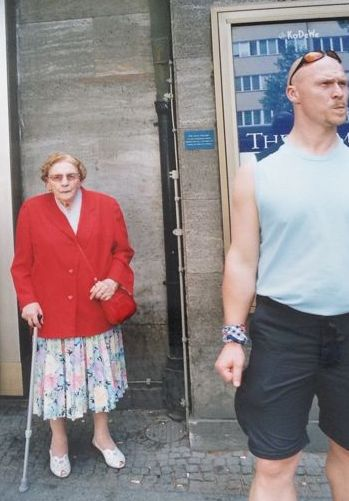 """Boris Mikhailov (1938-)  - """"Untitled"""" from his series """"In the streets"""", 2002"""