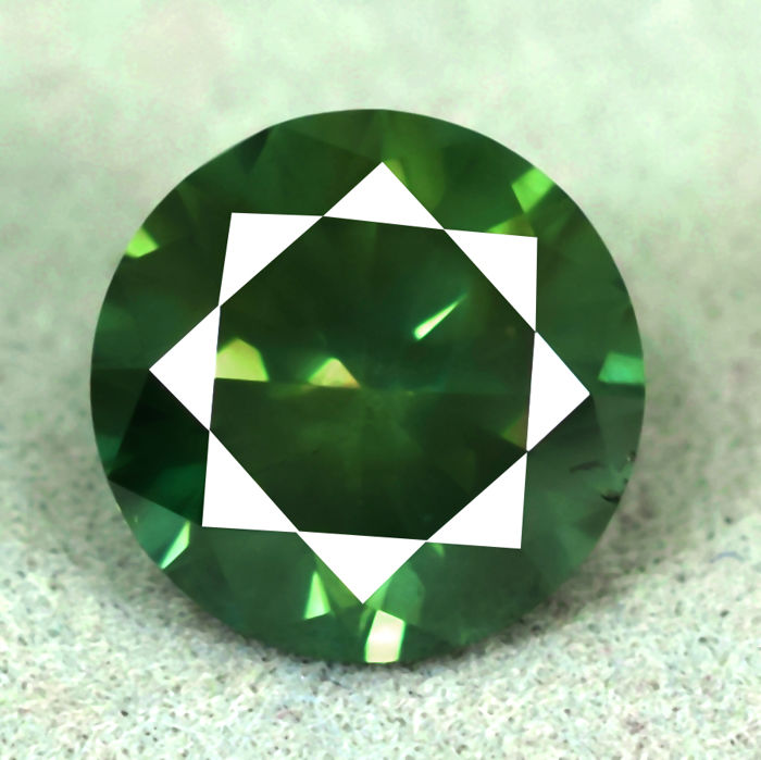 Blue Green Diamond - 2.10 ct, NO RESERVE PRICE - EXC/VG/VG
