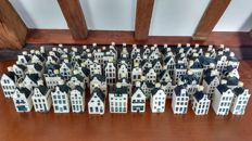 Collection of 91 pieces of KLM Bols houses up to no. 96