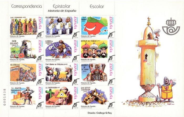 Spain 1998/2001 - Samples. Miniature sheets