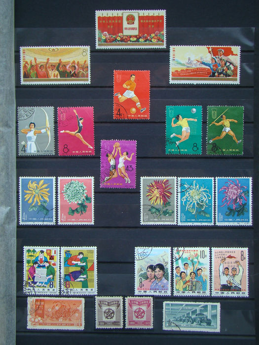 China 1893/1980 - Collection on Album sheets