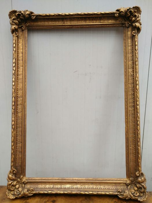 Golden Picture Frame Handmade Late 1800s Catawiki