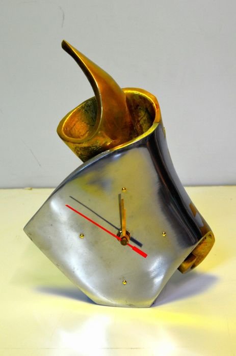 David Marshall - surreal bronze and aluminium clock / sculpture