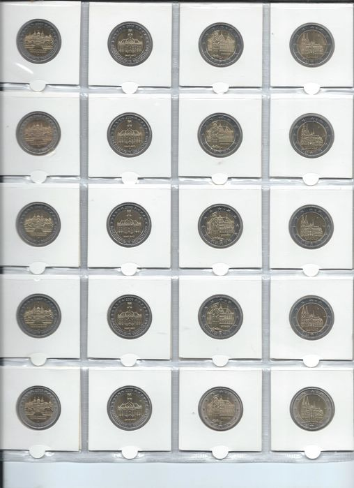 Germany - Special two Euro coins 2006/2014 A, D, F, G and J (41 coins)
