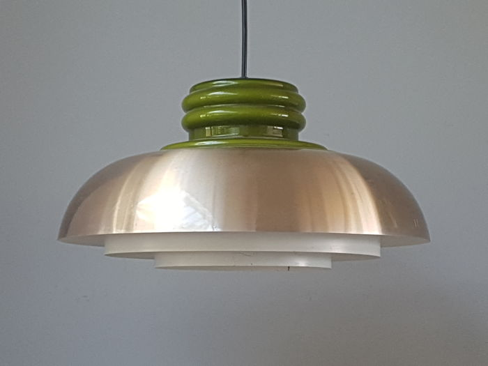 Dijkstra lamps - Space Age Glass and metal pendant lamp