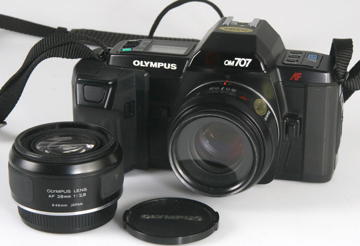 Olympus OM707 with two original lenses!