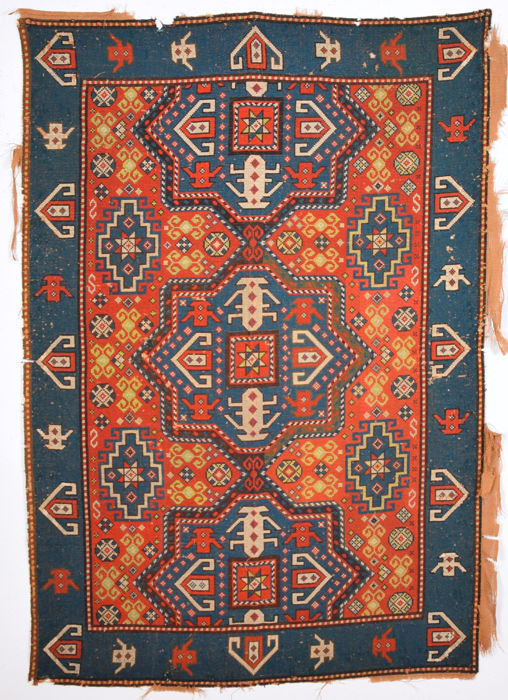 Circa 1900s needle point Rug