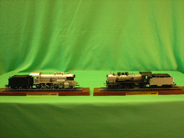 Märklin H0 - 00380 - Locomotive à vapeur avec tender séparé - Deko-set: 2 stoomlocomotieven met tender, Metall technologie edition - DB