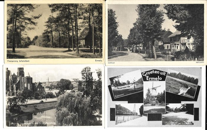 The Netherlands, 280 postcards, small size, both black-and-white as well as colour, circulated and uncirculated cards