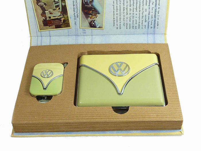 VW lighter + cigarette case Volkswagen Bulli bus
