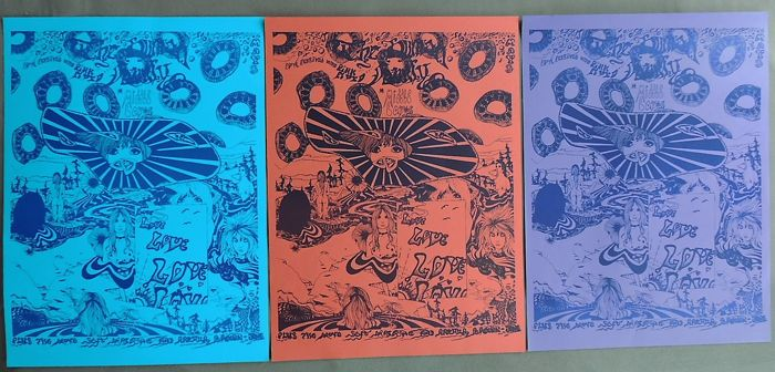 Rare Pink Floyd Middle Earth Festival Concert Poster Set