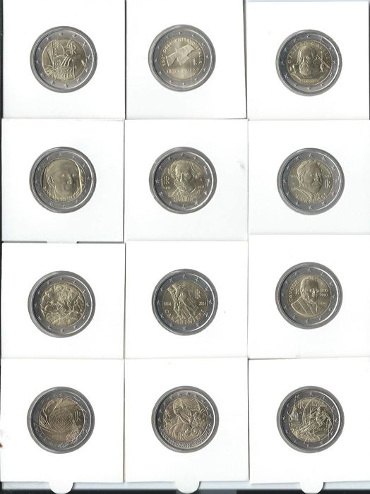 Italy and Portugal - 2 Euro 2004/2014 Commemorative coins (21 pieces)