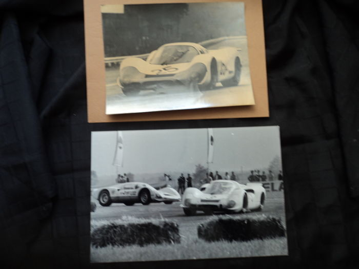 2 x original Porsche 917 photos, 1960s