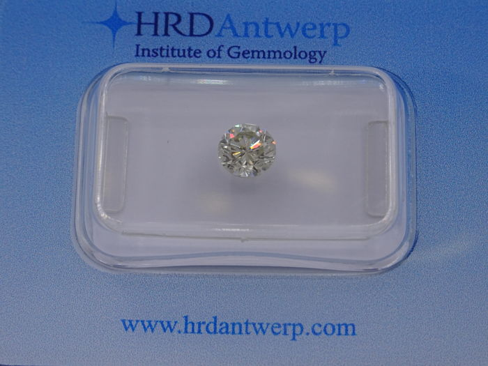 0.65 ct. briljant geslepen diamant - Kleur Tinted Colour (M) - P1