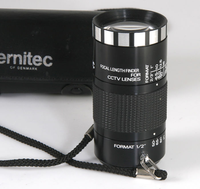 Ernitec focal length finder for CCTV lenses
