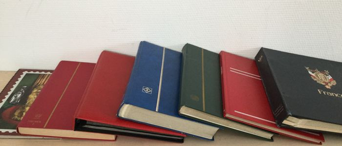 France and Colonies 1860/2000 - 7 albums/stock books