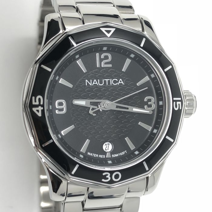 Nautica - NWS01 Black Dial with Day Stainless Steel bracelet - NAD16531L - Dames - NEW