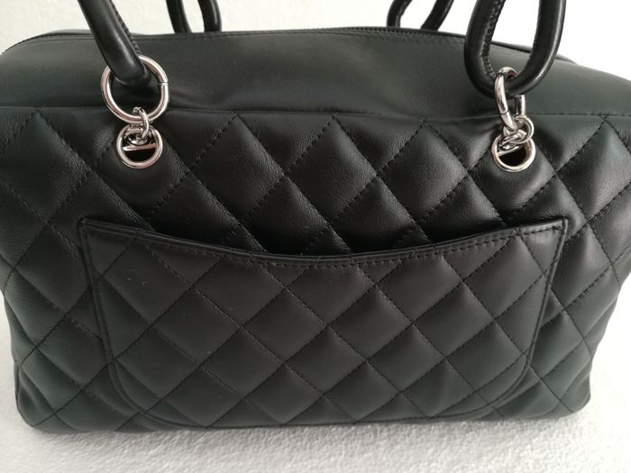 cdab16791f34 Chanel - Cambon Black Quilted Leather Shoulder bag - Catawiki