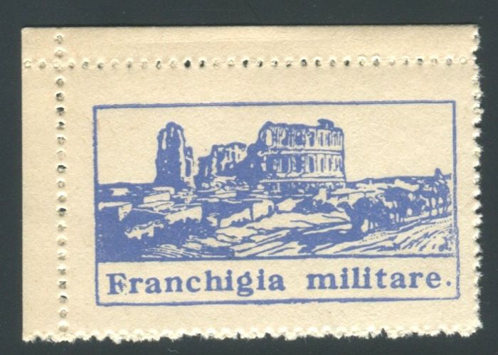 Italy, Kingdom 1943 - 'Franchigia Militare' El Djem (corner of sheet) - Sass.  N°  1