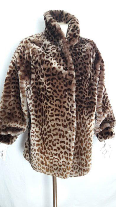 Montone lontrato leopardato enza boutique - Jacket - Size: IT 46