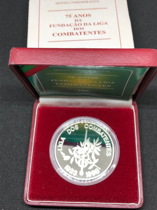 Portugal Republic - 1,000 Escudos - League of Combatants - 1999 - Silver - Proof
