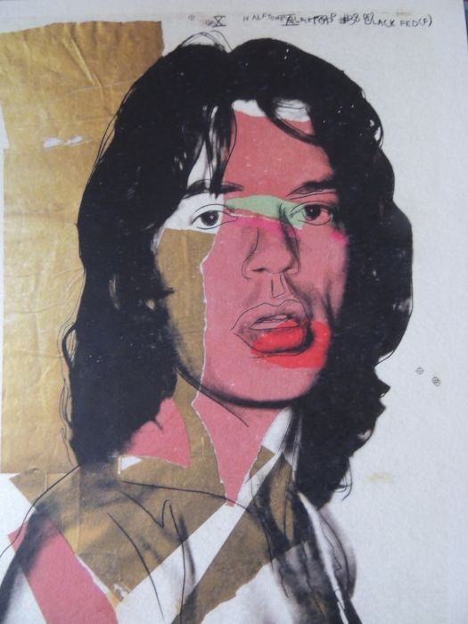 Two Stunning Andy warhol ( after ) - Mick Jagger   - Mick Jagger Pop Art
