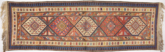 South Caucasian Moghan Rug, 95 x 285 cm