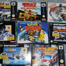 8 boxed Nintendo 64 games boxed like Star Wars + Pokemon Snap and more