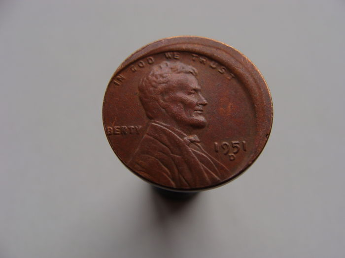 United States - Cent 1951 Lincoln (Miss-strike off centre)