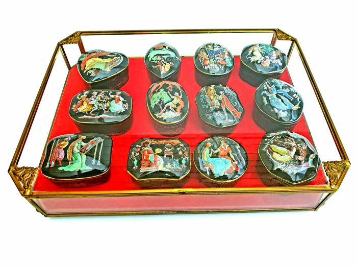 Complete Collection Franklin Mint Collector Music Boxes in Fine Porcelain - Playing Tchaicovsky's Musical Pieces