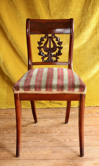 Empire, mahogany chair - The Netherlands - 1820
