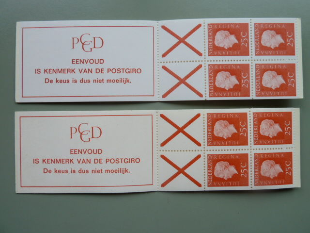The Netherland 1970 - Stamp booklets - NVPH PB 9f and 9fF with counting square