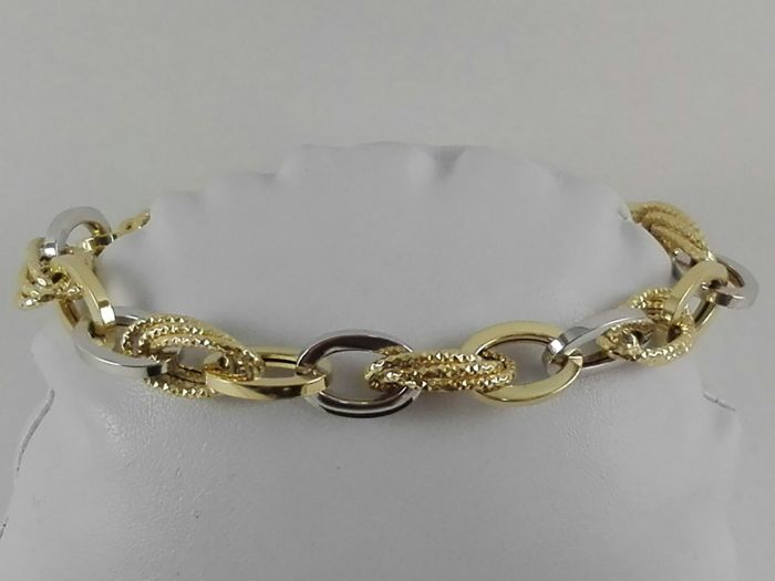 'Il Giglio' women's bracelet in 18 kt yellow and white gold Weight 8.6 g