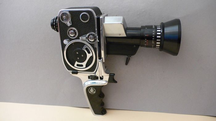 Bolex zoom reflex P1 8 mm film-camera with Berthiot Pan Cinor 1:1.9 8-40