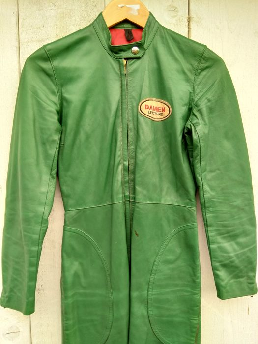 Suzuki Classic leather race suit - 1960s/70s