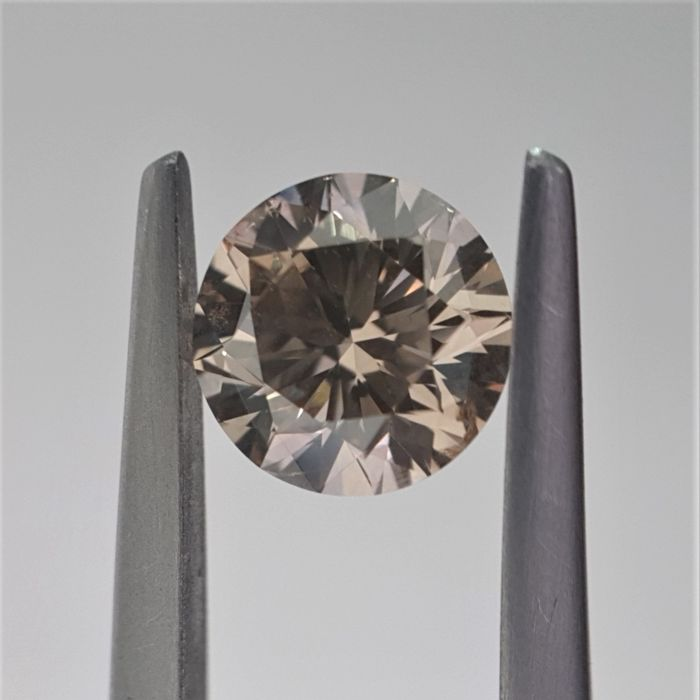 1.50 ct - Natural Fancy Diamond - Dark Yellowish Brown Color - SI2 - GIA