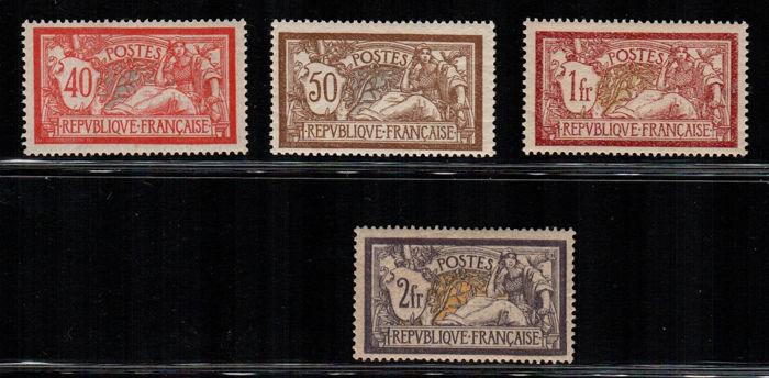 France 1900 - Type Merson - Yvert Numbers 119/22