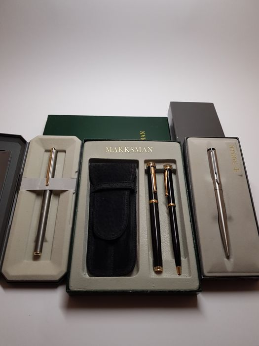 Elysèe & Parker & Marksman pen set in the original cases