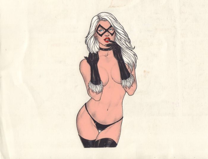 Black Cat - animation art