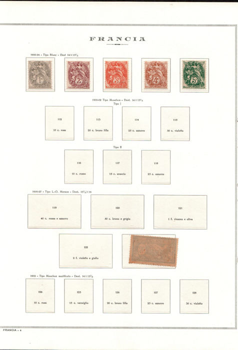 France 1900-1944 - Collection of stamps