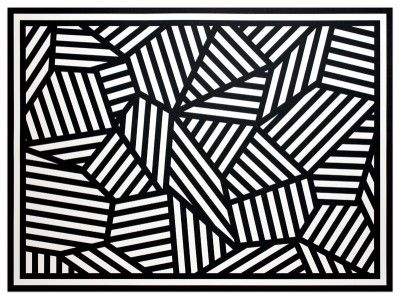 Sol Lewitt - Complex form with Black and White bands