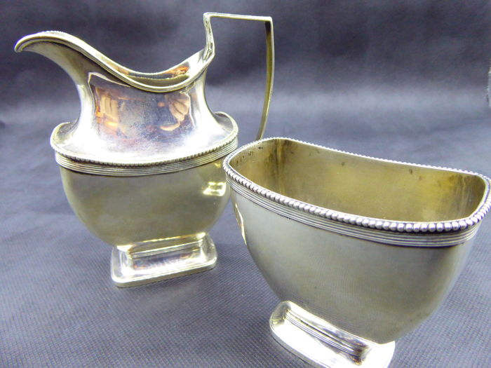 Silver pot set by F. A. Hoogendijk, Schoonhoven, first half 20th century