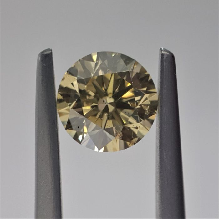 1.21 ct - Natural Fancy Diamond - Brownish Yellow Color - SI2 - GIA