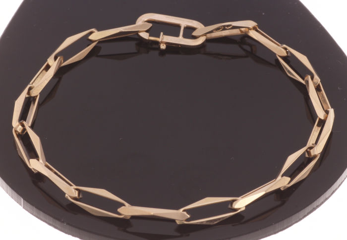 14 kt. Geelgouden closed for ever armband - 5 mm. - 18,5 cm.