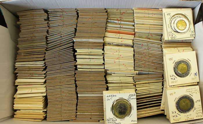 Republic of Italy - Large lot of more than 540 coins 'Errors and Variants'  from 50 to 1000 Lire - Catawiki