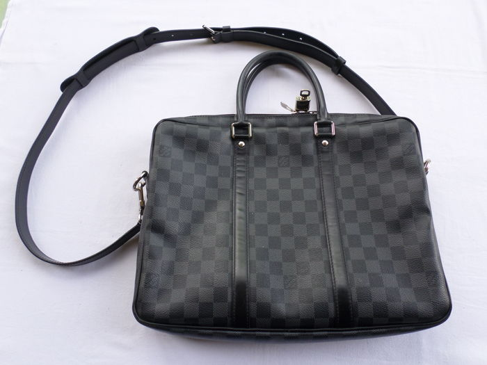 Louis Vuitton - Porte-Documents Voyage Briefcase Damier Graphite Pm Bolso de hombro